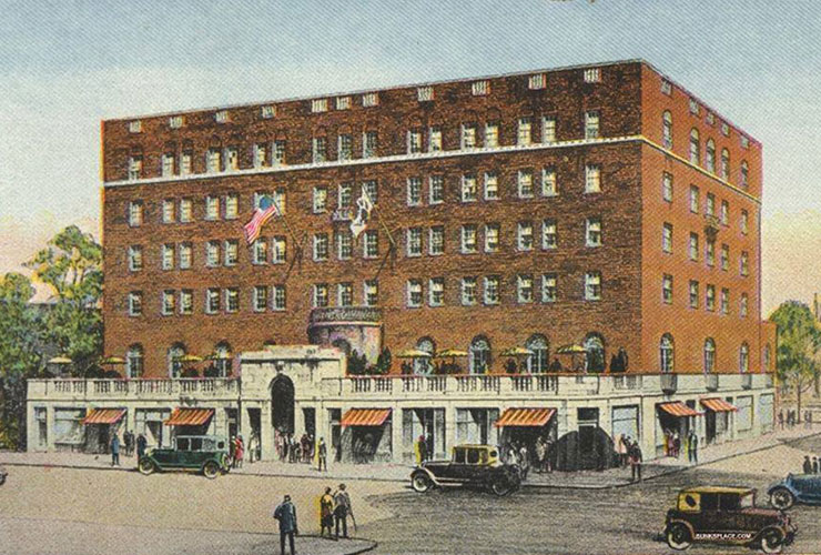 An illustration of the Hotel in 1927